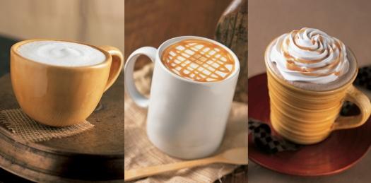 Algunas variedades de Starbucks.