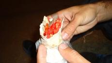 Lo que va quedando del shawarma...