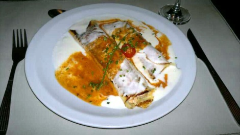 Canelones de salmón en Alma Belén.