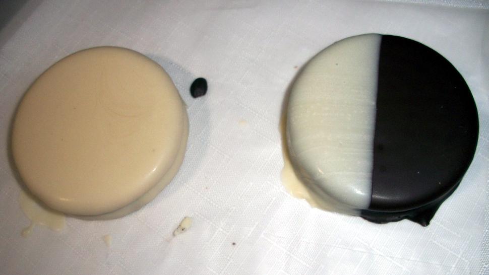 Baño Blanco Para Alfajores Receta:Alfajores blanco y negro